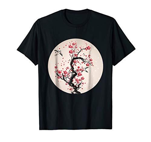 Watercolor Cherry Blossom Tree Tshirt