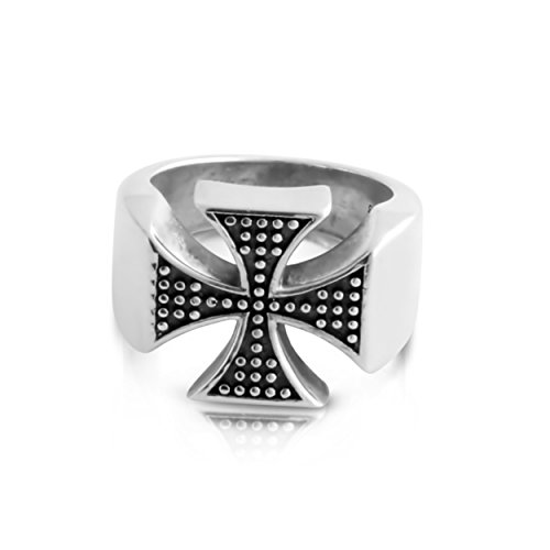 St George Ring (Azaggi Sterling SIlver Handcrafted Two - Toned st. George's Cross Ring (10))
