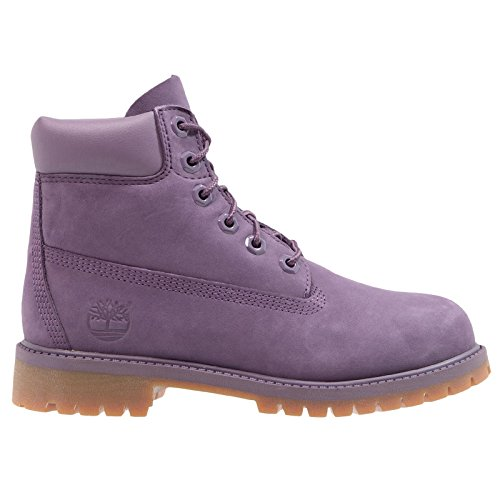 Timberland Youth 6 Inch Premium Waterproof Montana Grape Leather Boots 7 US by Timberland