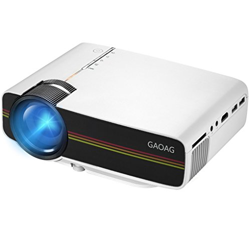 Projector gaoag mini projector portable video led for Mini outdoor projector