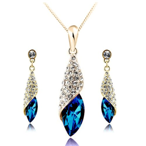 Gold plated Necklace Matching Earrings CF 4156 2S05