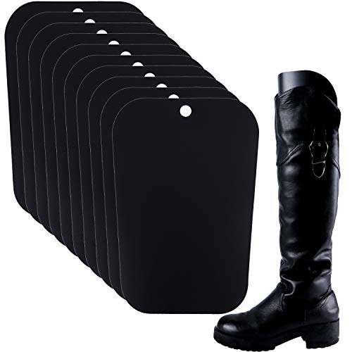 (Resinta 5 Pairs (10 Sheets) Boot Shaper Form Inserts Boots Tall Support for Women and Men (16 inches, Black))