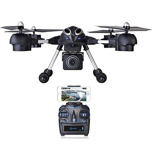 Contixo Wifi FPV F10 RC Quadcopter Drone, Live View, 720p HD Wifi Camera, Headless Mode, 2.4GHz, 4 Channel, 6 Axis Gyro RTF, Support GoPro HERO Cameras.