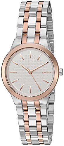DKNY Women's 'Park Slope' Quartz Stainless Steel Casual Watch, Color:Silver-Toned (Model: NY2493)