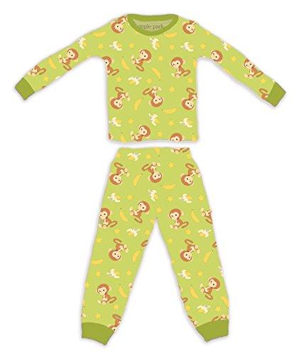 Apple Park Organic Picnic Pal Organic Cotton Pajamas - Monkey, 18-24 - Monkey Apples