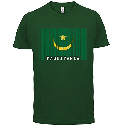 Mauritania / Mauretanien Barcode Flagge - Herren T-Shirt - Flaschengrün - M