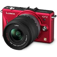Panasonic Lumix DMC-GF2 12 MP Micro Four-Thirds Mirrorless Digital Camera with 3.0-Inch Touch-Screen LCD and 14-42mm Lens (Red)