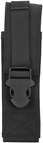 Tactical Molle Pouch, Lightweight Practical Utility Military Molle Belt Bag Flashlight Holster for Tactics Acc