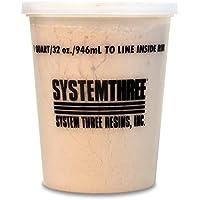 System Three 3110S16 Brown Wood Flour, 1 quart Tub by System Three