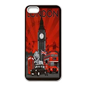 Diy London Red Bus Case Cover, DIY Protective Cover Case for iPhone 5/5G/5S London Red Bus