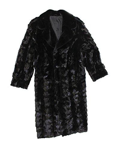 Bergama 716569 New Mens Black Mink Fur Sections Full Length Coat Stroller 6XL