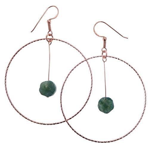 Agate Moss Earrings 3.5