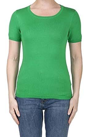 SHOP DORDOR BW-055 Women's Short Sleeve Crewneck Slim Fit Knit Pullover Sweater APPLEGREEN S