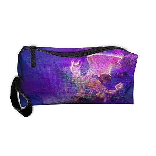 viaggio elegante di di borse di cosmetica Matita trucco del dinosauro di dell'organizzatore fantasia caso di del sacchetto w0qZIxWf