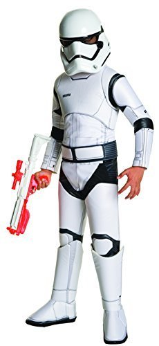 Star Wars: The Force Awakens Child's Super Deluxe Stormtrooper Costume, (Star Wars Clone Trooper Deluxe Child Costumes)