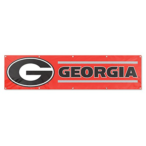 Nylon Georgia Indoor Flag - Party Animal Georgia Bulldogs 8'x2' NCAA College Banner