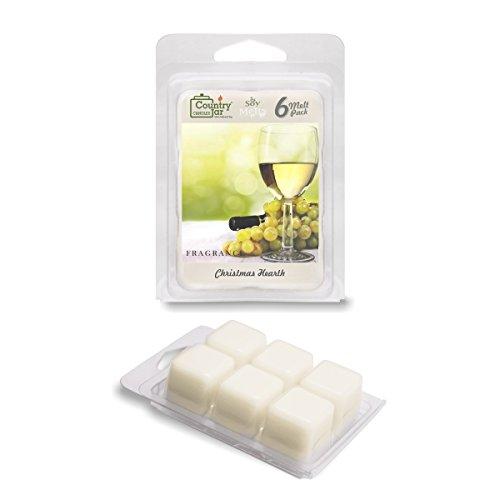 Pure Chardonnay (Country Jar Chardonnay Wax Melts, 2.75 oz. 6-Cube Pack / Natural Soy)