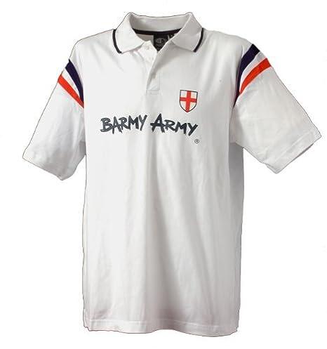 Barmy Army Inglaterra Ashes Cricket Polo - Small: Amazon.es ...