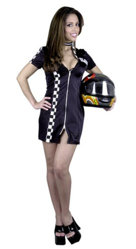 Black Flag Costume For Sale (Double Zip Sexy Racer Costume)