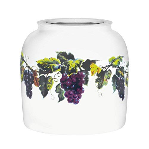 Grapes and Grape Leaves Crock.