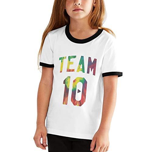Youth Graphic Tshirts, Boys Girls T-Shirt Team 10 Generic T Shirt, Teens Jake Short Sleeve Paul Shirts Merch Tops Sport Tees M Black