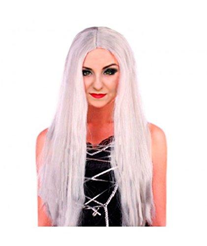 Peluca extralarga blanca
