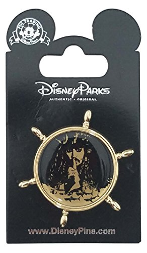 Disney Pin - Pirates of the Caribbean - Ships Wheel with Captain Jack