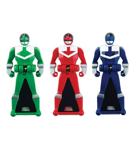 Power Rangers Super Megaforce - Time Force Legendary Ranger Key Pack, Red/Blue/Green