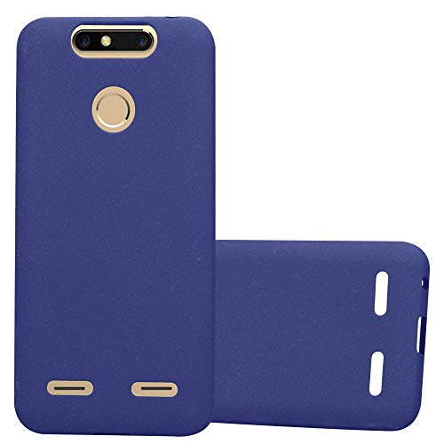 Cadorabo Case Works with ZTE Blade V8 Mini in Frost Dark Blue - Shockproof and Scratch Resistant TPU Silicone Cover - Ultra Slim Protective Gel Shell Bumper Back Skin
