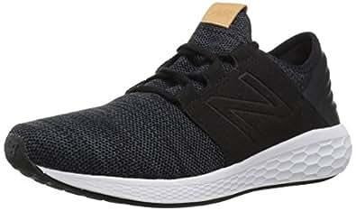 New Balance Men's Cruz V2 Fresh Foam Running Shoe, Black/White, 8 D US