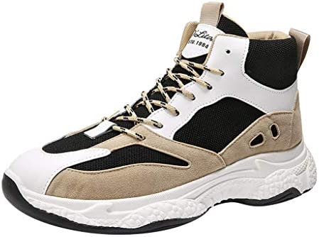 [ Eldori ] 厚底スニーカー トレッキングシューズ メンズ ハイキングシューズ 防滑 登山靴 耐摩耗 衝撃吸収 アウトドア キャンプ シューズ 通気性 スエード スニーカー ハイカット 大きいサイズ 日常着用スニーカー