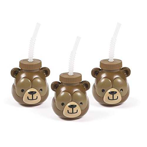 Fun Express Woodland Party Bear Molded Sipper Cup ()