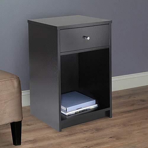 Endicot 2-Tiers End Side Sofa Table Wood Nightstand Storage Display Bedroom W/1 Drawer   Model DRSSR - 86