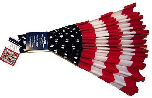 American USA Flag Bunting Vibrant Velvet 4th of July Decoration America