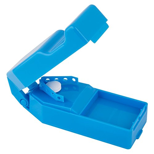 Ezy Dose Deluxe Pill Cutter │ 3 Storage compartments │Splits Tablets with Ease ()