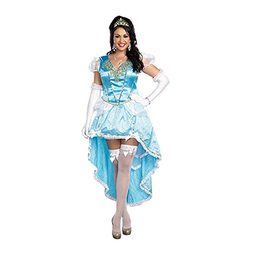 Dreamgirl Women's Plus-Size Fairytale Ball Gown Costume, Blue, 1X/2X