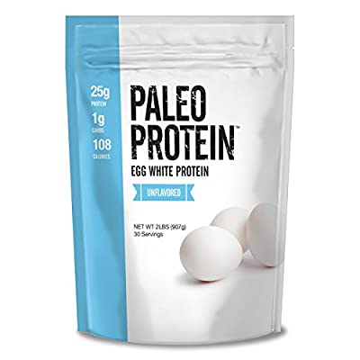 Paleo Protein Egg White Powder (2 LBS Total)(Soy Free)(30 Servings Total) (Gluten Free)