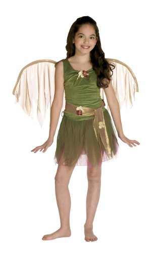 Girls Green Foliage Fairy Costume - Child Std. (Foliage Fairy Green)