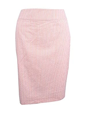 Nine West Womens Striped Seersucker Pencil Skirt