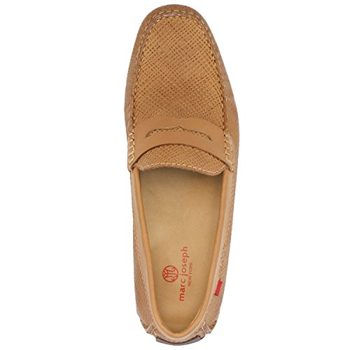 Men's Genuine Leather Made in Brazil Union Street Driver Marc Joseph NY Fashion Shoes Tan Basket Leather cheap pictures nSAoJumqa