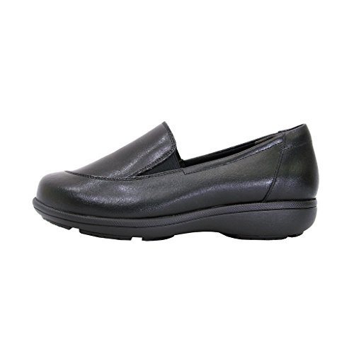 24 Hour Comfort  Peggy Women Adjustable Extra Wide Width Professional Step in Loafer Black 10 by 24 Hour Comfort (Image #1)