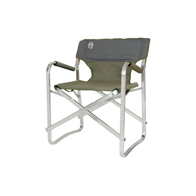 Coleman Faltstuhl Deck Chair mit Aluminiumgestell Zum Relaxen, Campingstuhl mit Armlehnen und gepolsterter Rückenlehne…