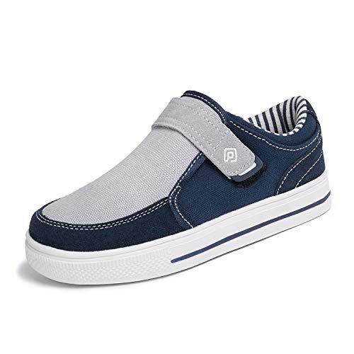 DREAM PAIRS Little Kid Boys' 160479-K Navy Grey School Loafers Sneakers Shoes - 13 M US Little Kid