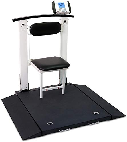 Detecto 6570 Portable Electronic Handrail Seat Wheelchair Weigh Scale