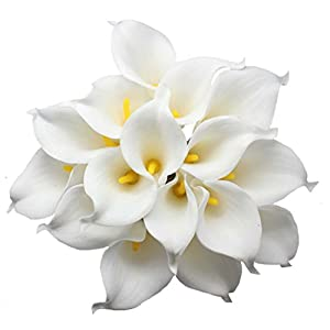 En Ge 10 Heads Mini Calla Lily Bridal Wedding Bouquet Real Touch Flower Bouquets 5