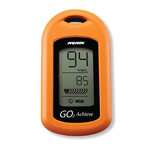 Nonin Medical GO2 Achieve Personal Fingertip Pulse Oximeter, Orange, Made in the USA with 2-year Warranty by Nonin