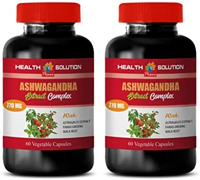 Memory Supplement for Brain – ASHWAGANDHA Advanced Complex – ashwagandha Testosterone Booster – 2 Bottles 120 Capsules