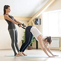 UMI Yoga Strap (6ft,8ft,10ft) - Durable Cotton Exercise Straps w/Adjustable D-Ring Buckle for Stretching, General Fitness, Flexibility