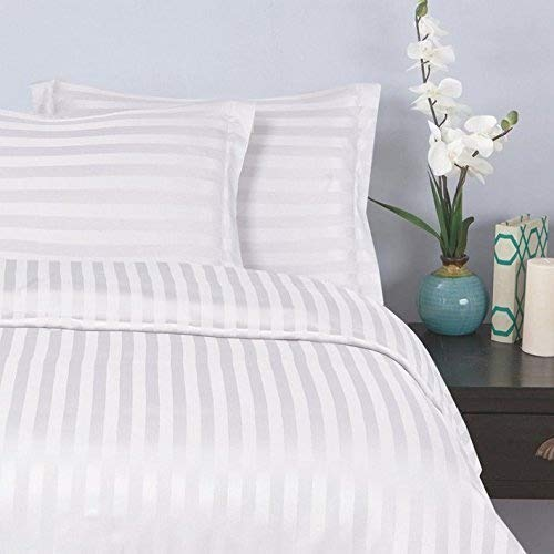 Elegant Comfort Silky-Soft 1500 Thread Count Egyptian Quality Wrinkle-Free 3-Piece Duvet Cover Set, King/Cal-King, White