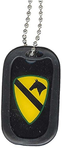US Army Cavalry Infantry Class Unit Division Symbol - Military Dog Tag Luggage Metal Chain Necklace